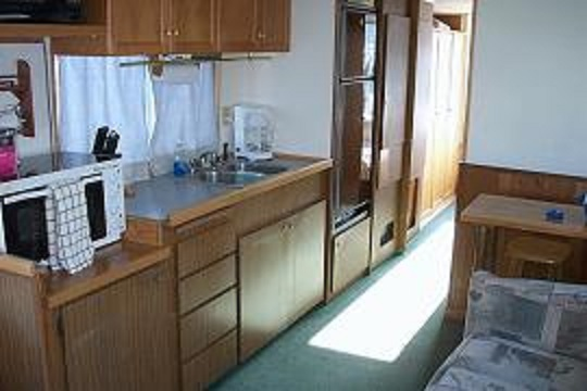 Spindrift houseboat galley